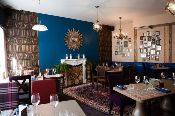 Internal view of the Boho Lounge Restaurant located in Tallinn, Estonia.