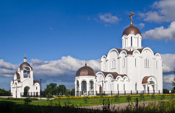 """External view of the Church of the """"Quick to Hearken"""" Icon of the Mother of God in Tallinn, Estonia."""