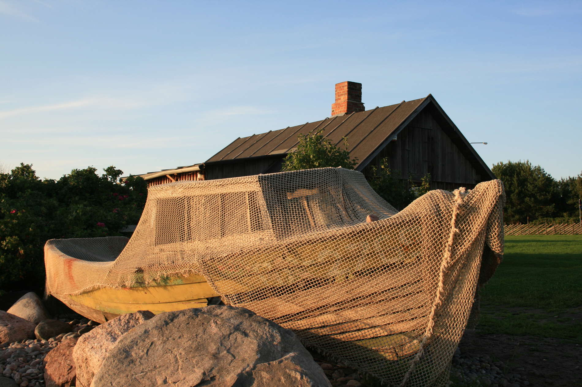 Old fishing boat at the Viimsi Open Air Museum in Estonia.