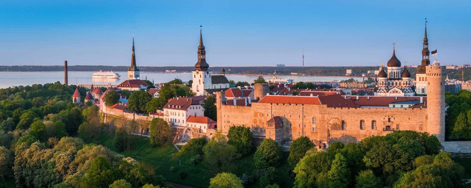 Aerial view of Toompea