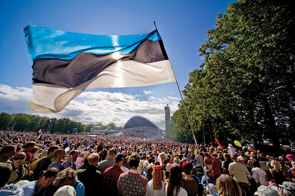 Song Celebration at the Song Festival Grounds in Tallinn, Estonia.