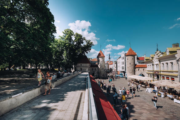 Viru street in the Old Town of Tallinn, Estonia