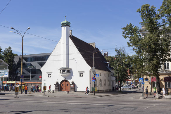 External view of the Adventist Church in Tallinn, Estonia.