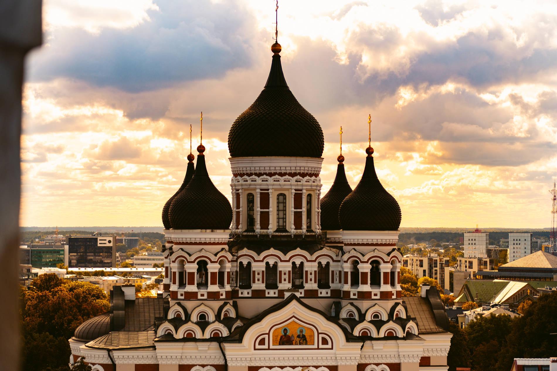 St. Alexander Nevsky Cathedral in Tallinn, Estonia