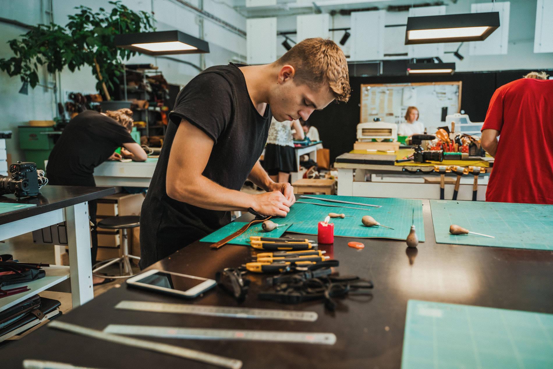 Workshop at Stella Soomlais studio in Tallinn, Estonia