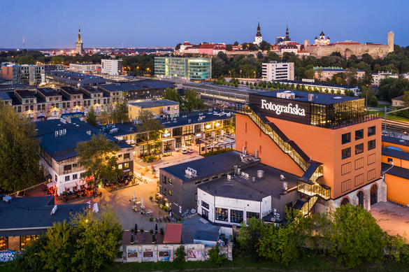 Aerial view of Fotografiska Photography Museum in Telliskivi Creative City, Tallinn