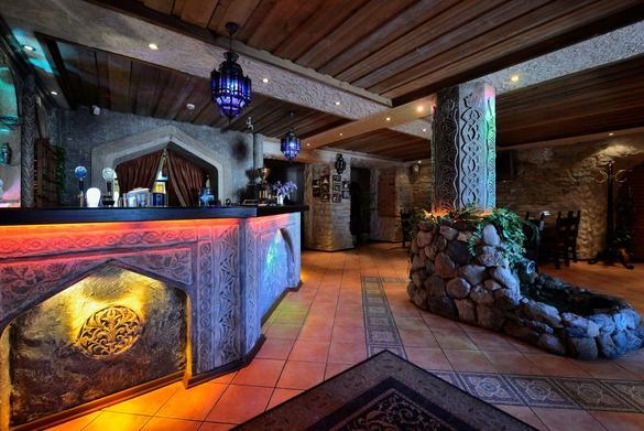 Internal view of the restaurant and bar Bosphorus located in Tallinn, Estonia.