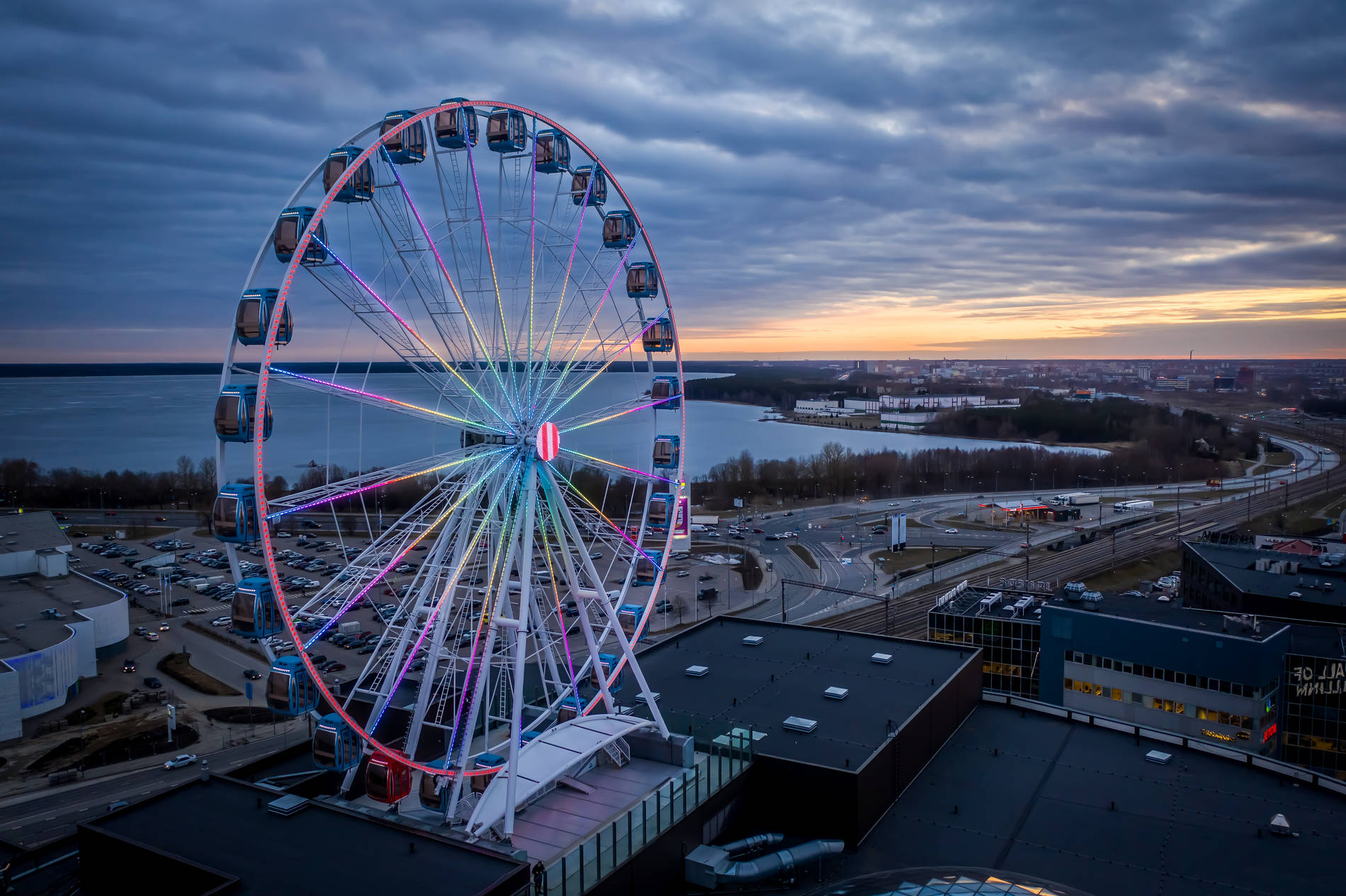 Skywheel of Tallinn in Estonia