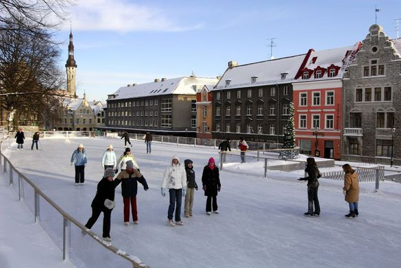 Ice rink opened in Tallinn