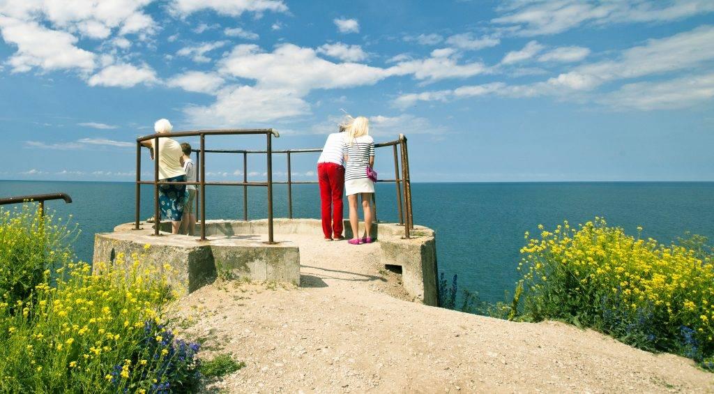 View to the sea in Paldiski, Estonia