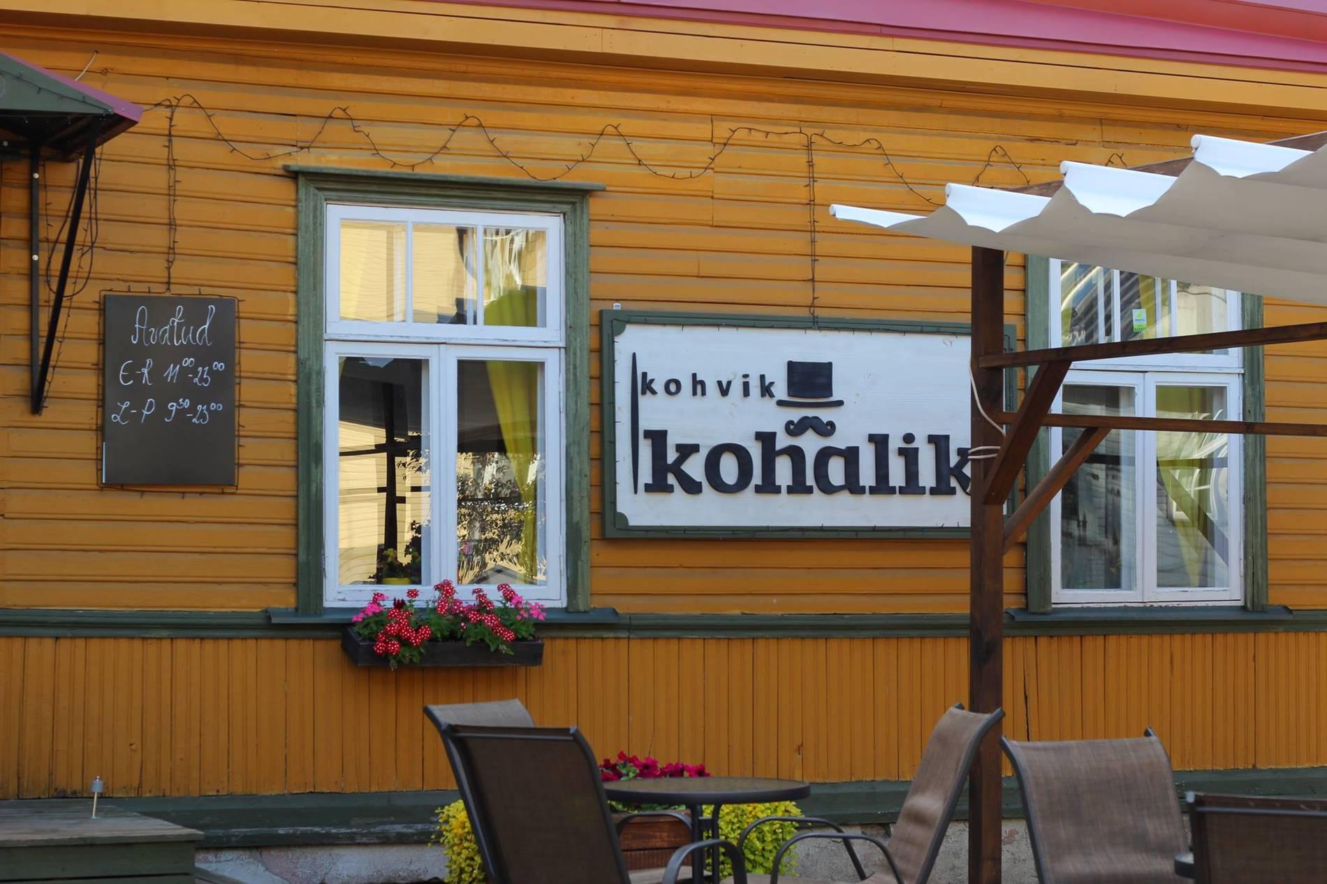 External view of the Kohalik restaurant in Tallinn, Estonia.