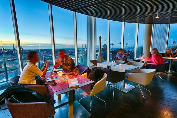 Internal view of the Lounge24 restaurant in Tallinn, Estonia.