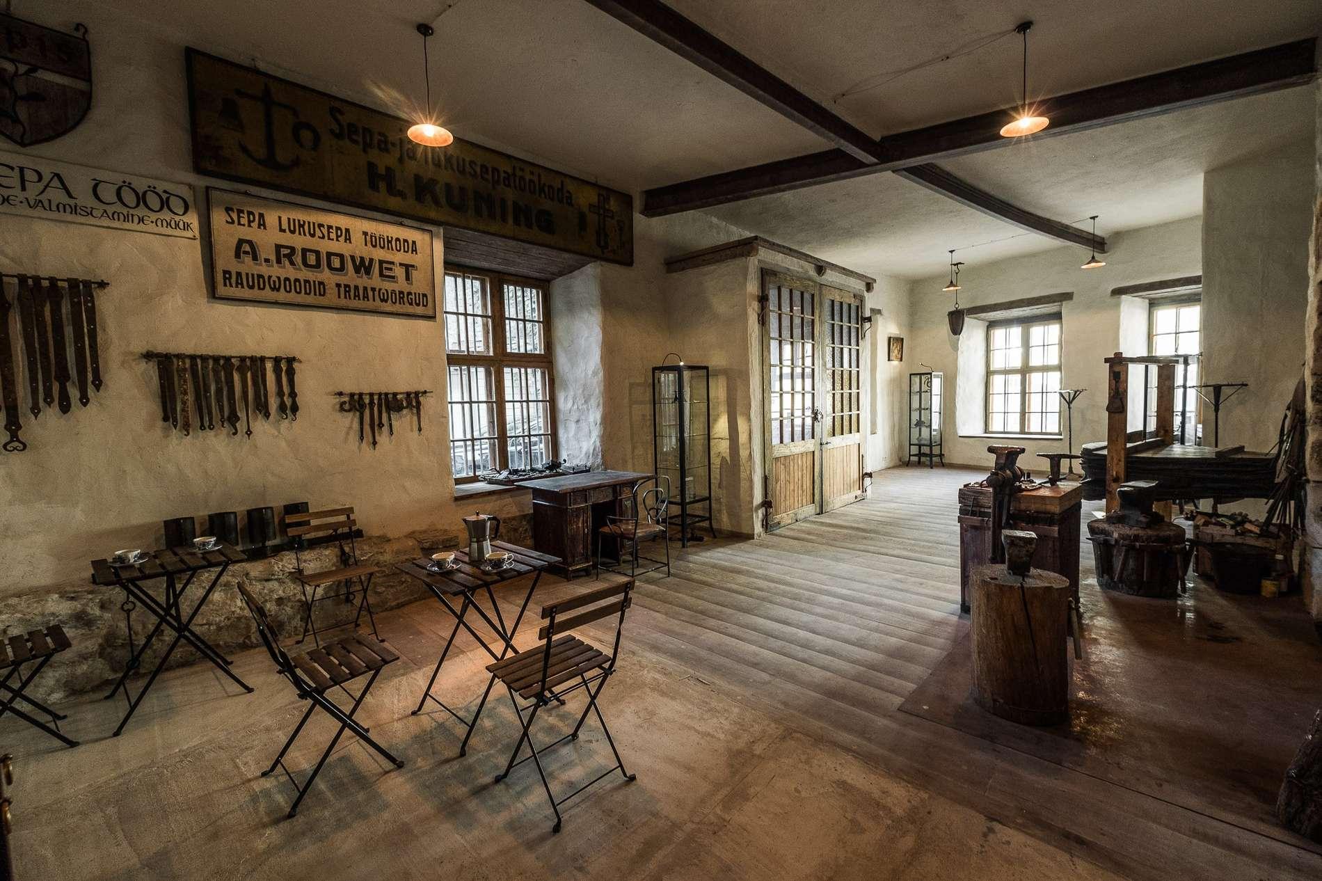 Old Smithy museum in Tallinn, Estonia