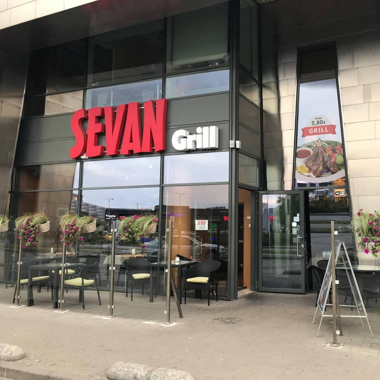 "External view of the Armenian Grill-Restaurant ""Sevan"" in Tallinn, Estonia"