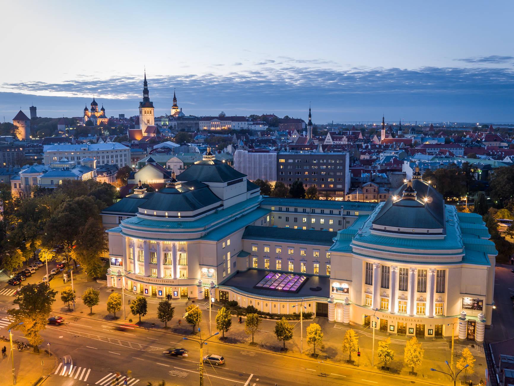 Estonia teater Tallinna kesklinnas