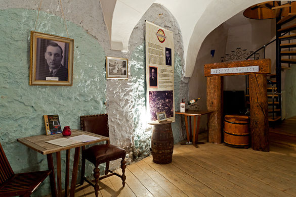 Interior of the Luscher & Matiesen Museum of Estonian Drink Culture in the Old Town of Tallinn, Estonia.