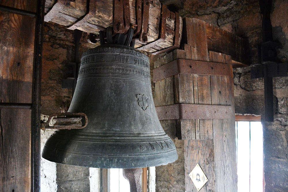 Bell at Tallinn Town Hall Tower in Estonia