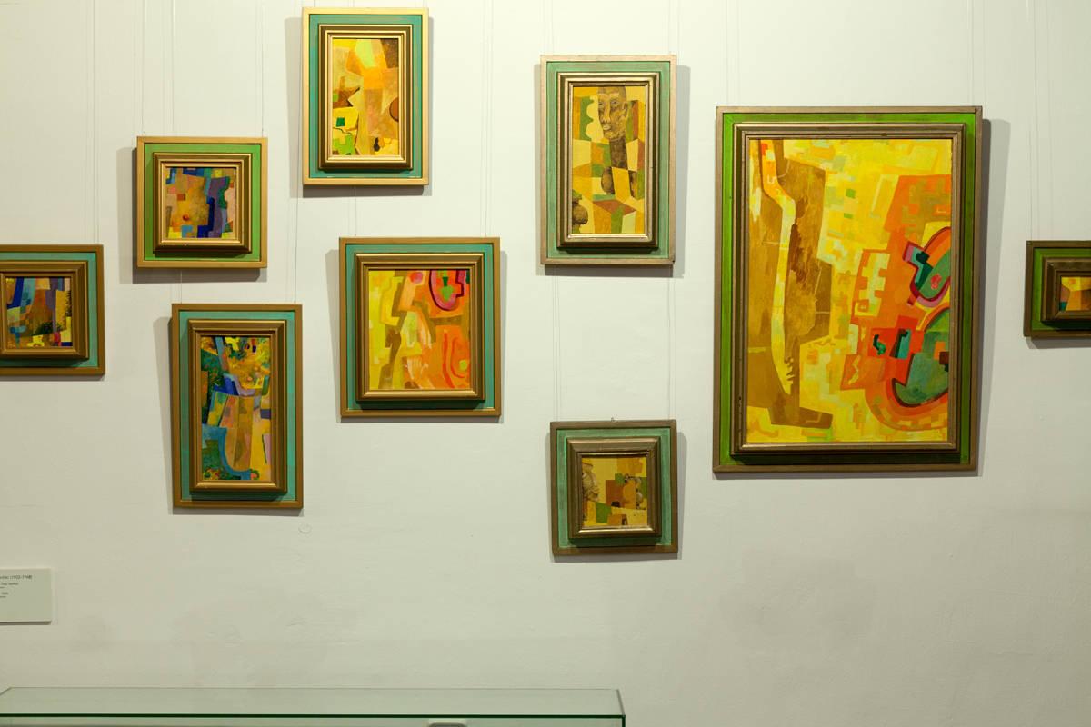 Paintings in Adamson-Eric Museum in Tallinn, Estonia