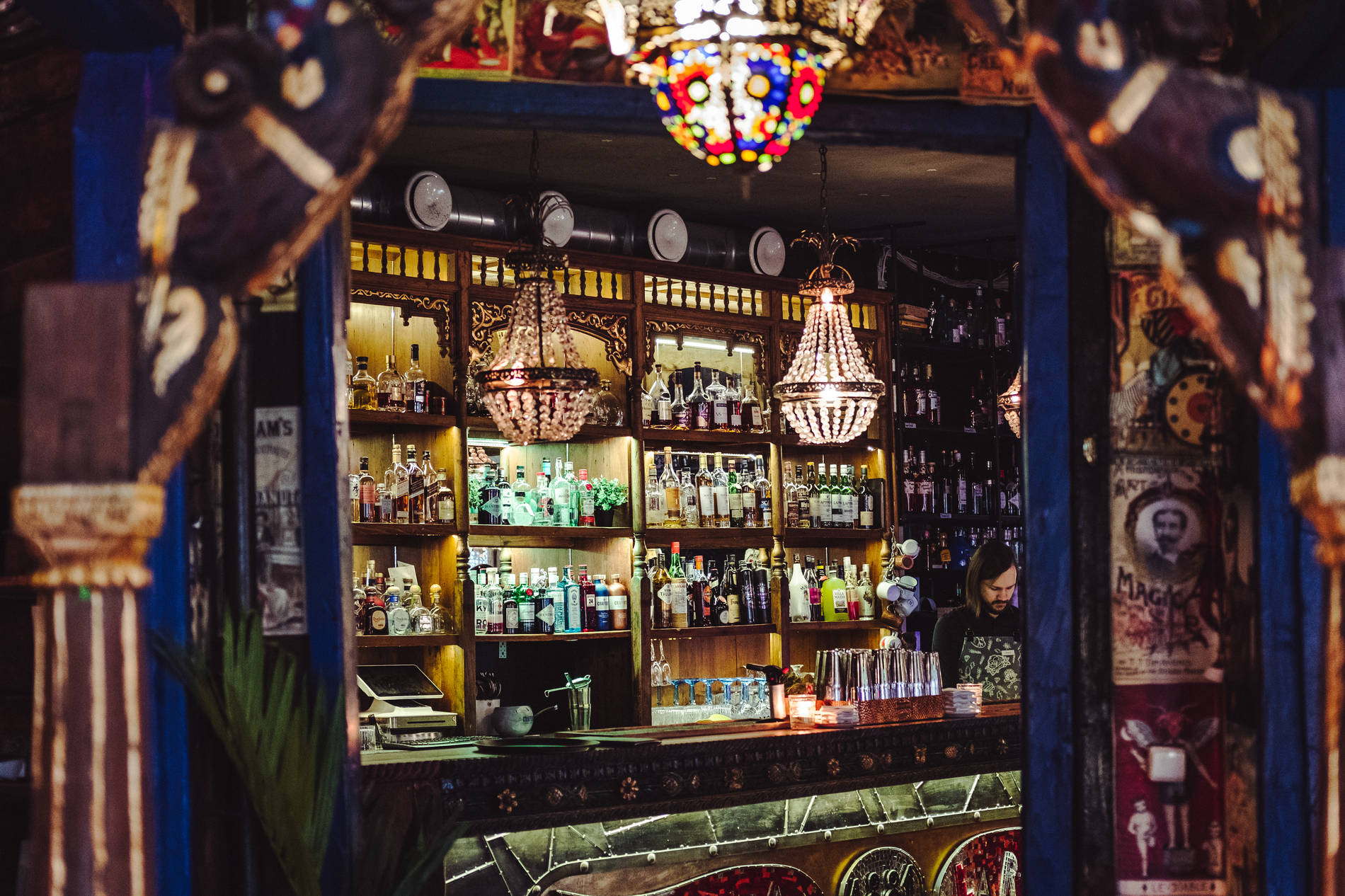 Interior of Manna la Roosa bar in Tallinn, Estonia