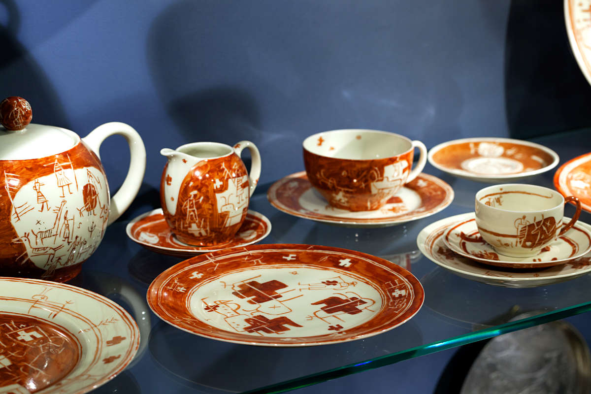 Tableware set in Adamson-Eric Muuseum in Tallinn, Estonia