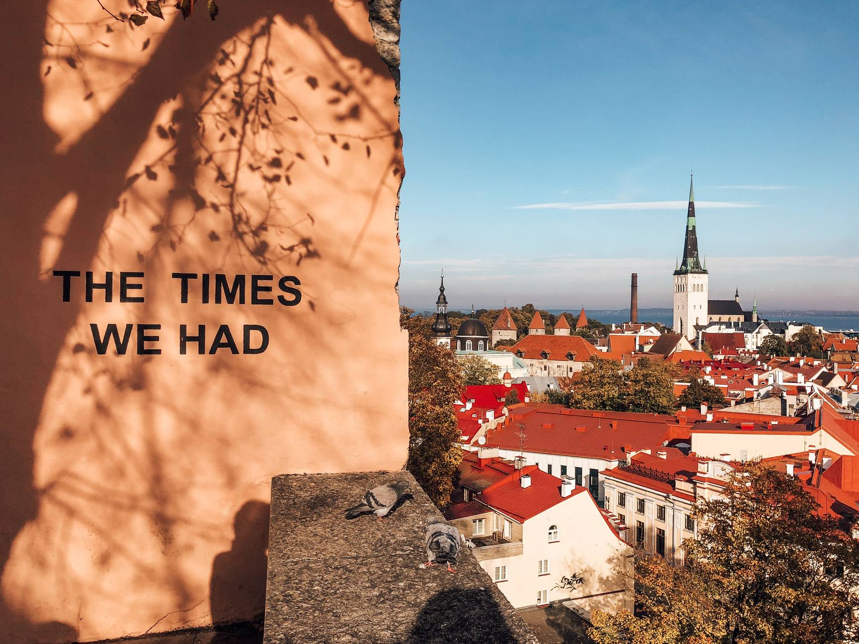 The times we had - Tallinn panorama from the Kohtuotsa viewing platform in Estonia