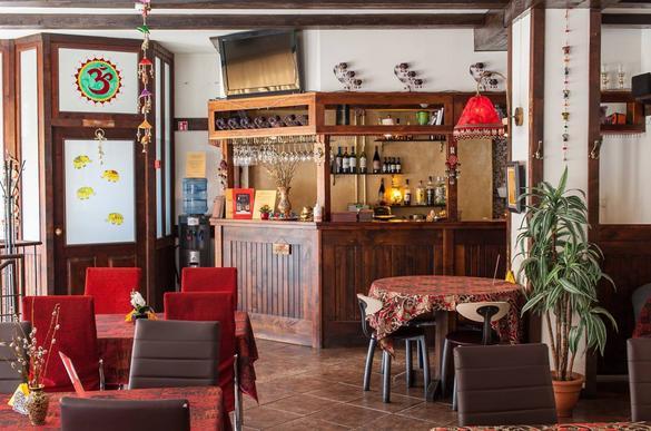 Internal view of the Kathmandu Hill restaurant located in Tallinn, Estonia.