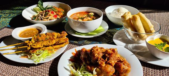 Dishes that were made in the New Thai Restaurant in Tallinn, Estonia.