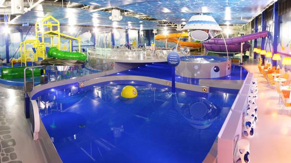 Näkymä Atlantis H2O Aquapark kylpylälle Viimsissä.