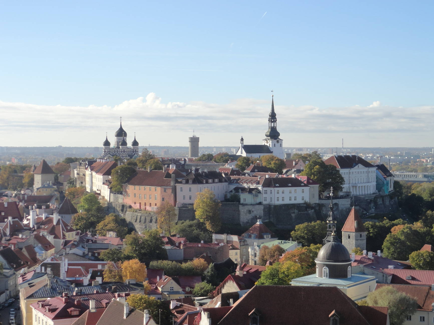 View of the Old Town in Tallinn, Estonia