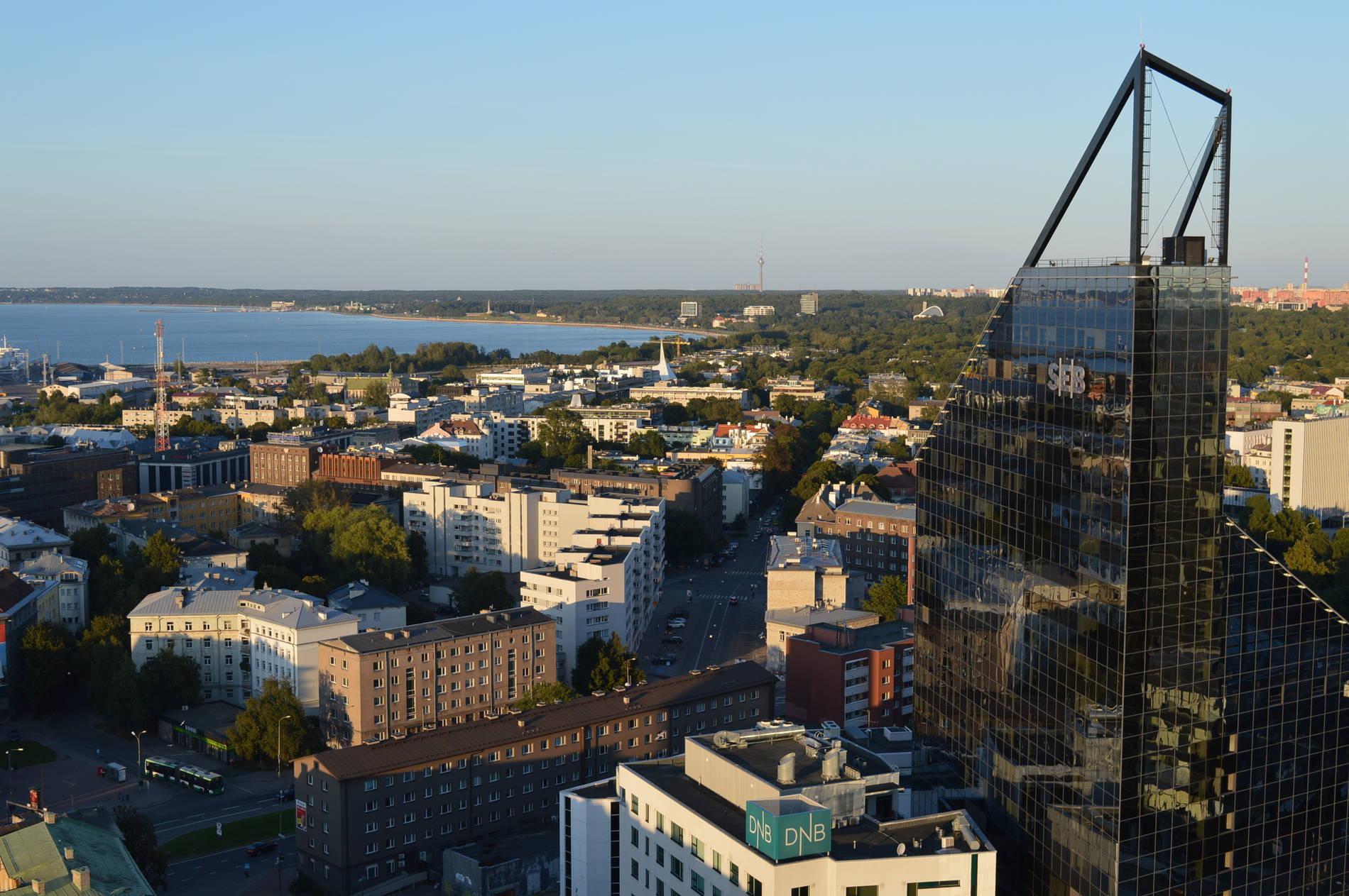 View of the City Center of Tallinn, Estonia