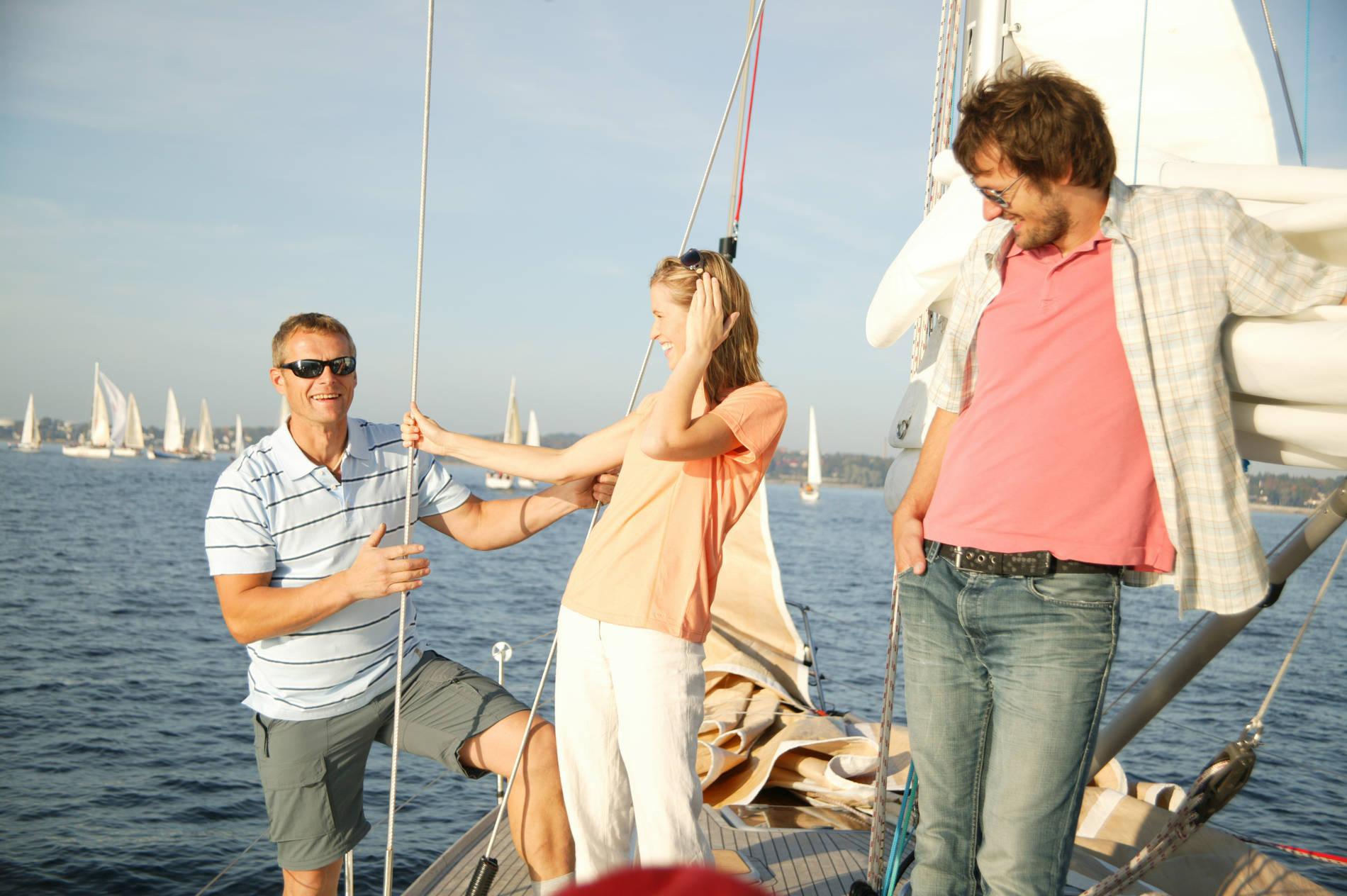 Sailing on the sea in Tallinn