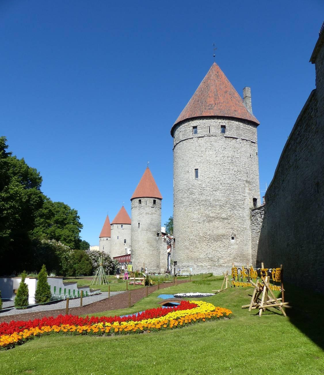 Town Wall in Tallinn, Estonia
