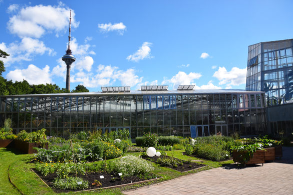 External view of the Tallinn Botanic Garden in Estonia.
