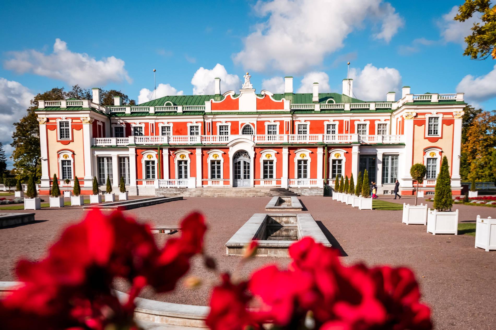 Kadriorg park and palace in Tallinn, Estonia
