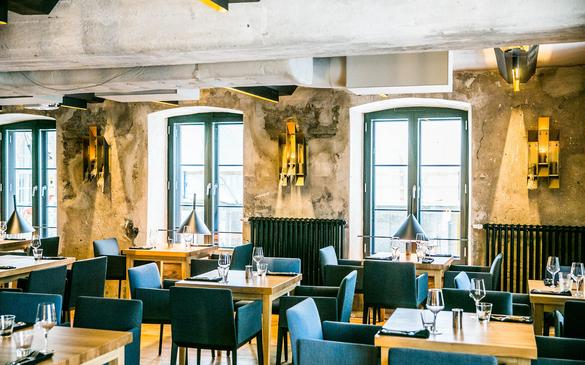 Internal view of the restaurant Pull, in the Rotermann Quarter in Tallinn, Estonia.