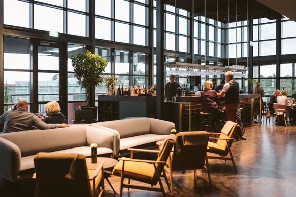 Interior of the Fotografiska Rooftop Bar 6th floor in the Telliskivi Creative City inTallinn, Estonia
