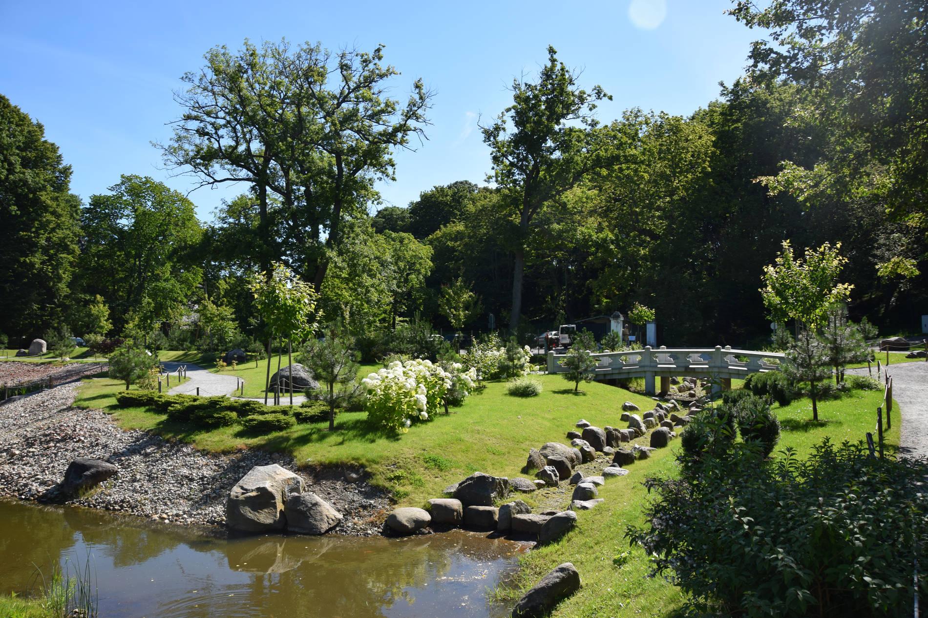 The Japanese Garden in Kadriorg Park in Tallinn, Estonia