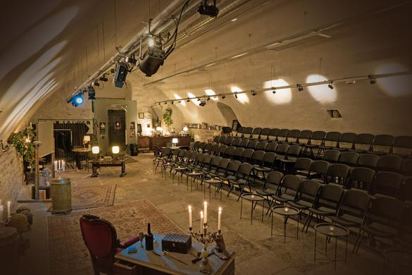 Interior view of the Kellerteater, Old Town Mystery Theatre in Tallinn, Estonia.
