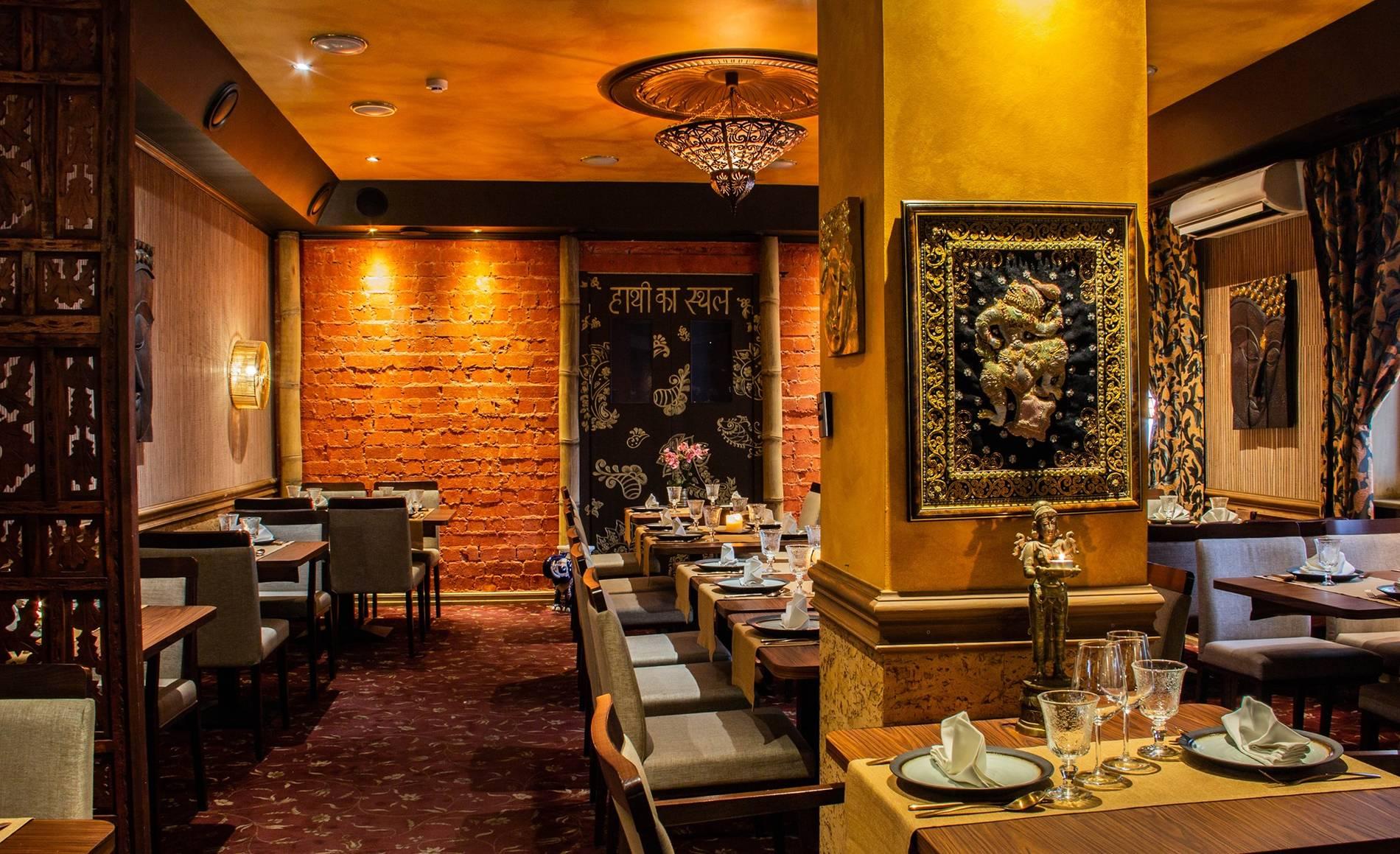 Internal view of the Villa Thai restaurant in Tallinn, Estonia.