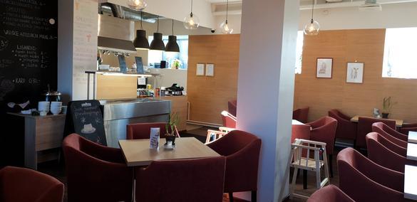 Internal view of the Pannkoogimaja restaurant, located in Tallinn, Estonia.