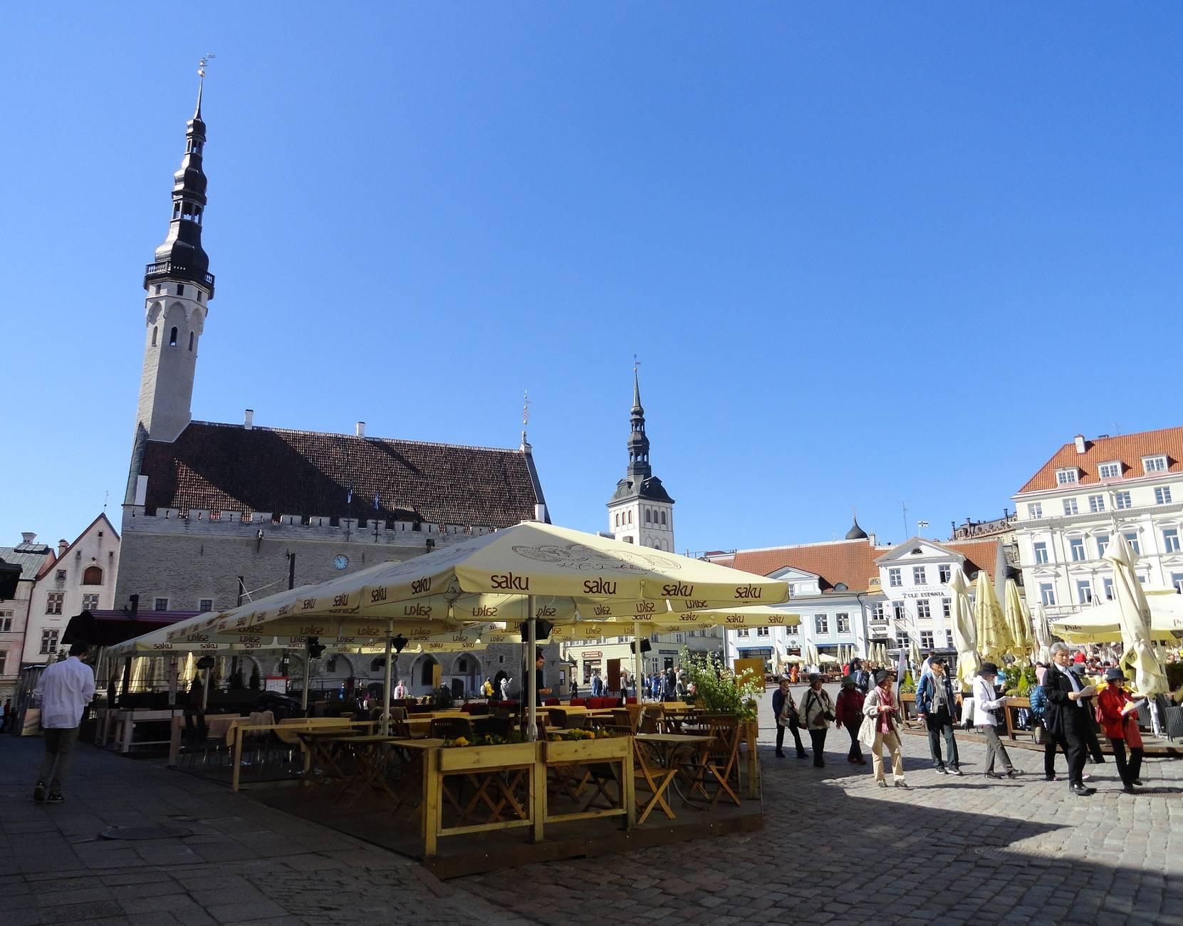 Town Hall Square in Tallinn, Estonia