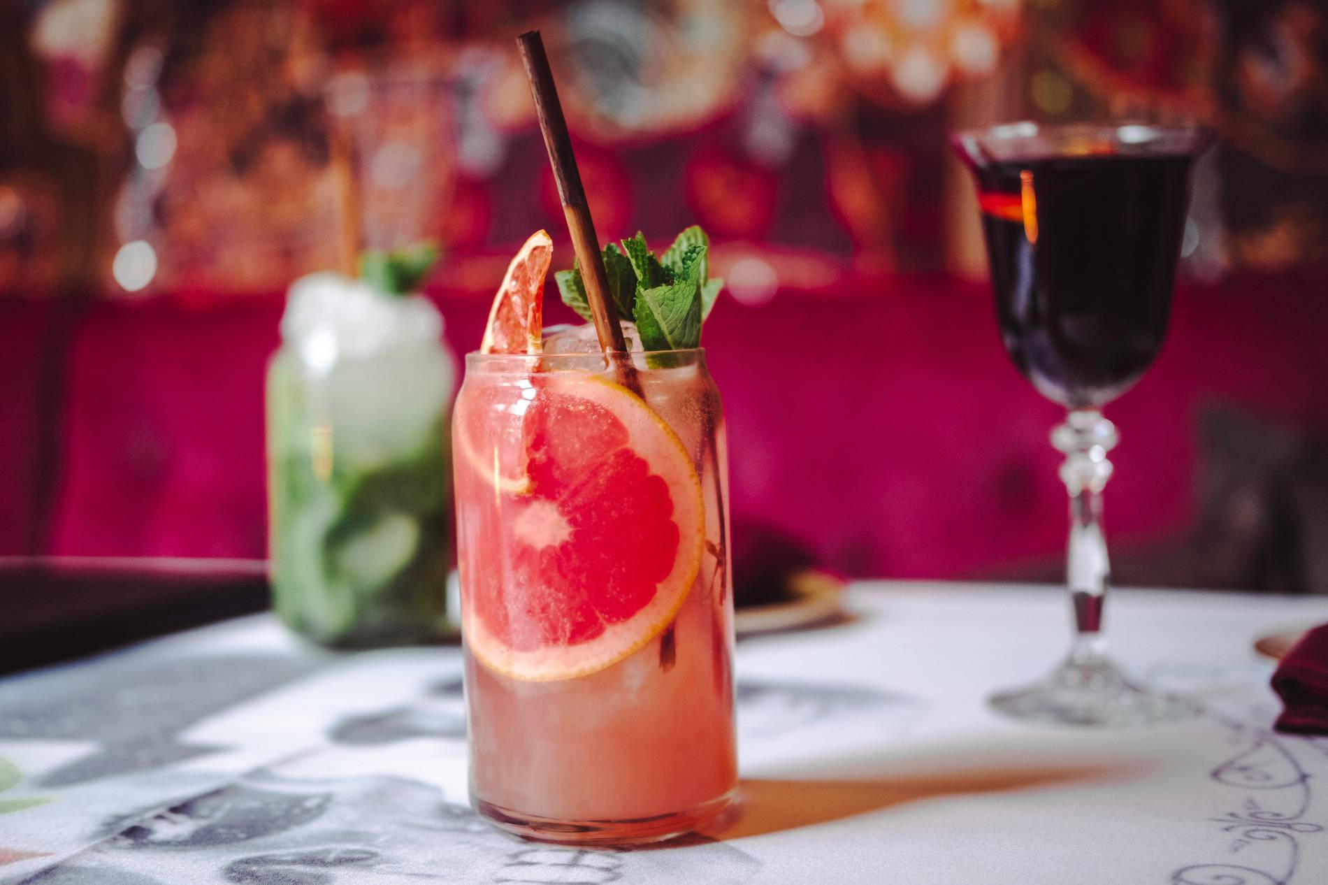 Cocktails in the Manna la Roosa bar in Tallinn, Estonia