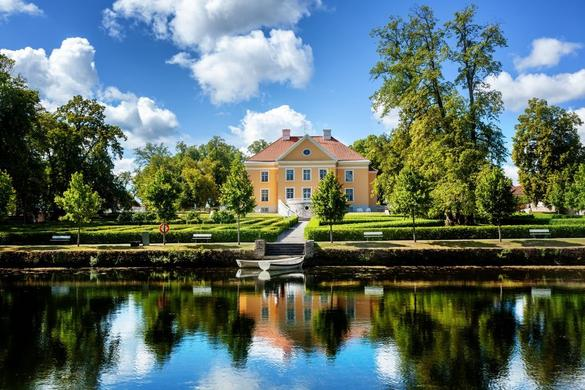 View to the Palmse Manor in Estonia.