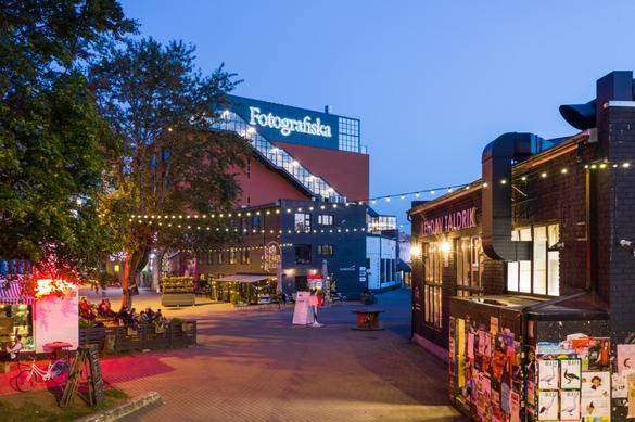 External view of the Fotografiska #snäptäpbar in the Telliskivi Creative City in Kalamaja area in Tallinn, Estonia