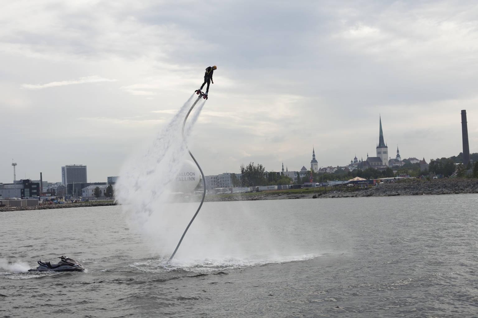 Flyboarding in Tallinn, Estonia