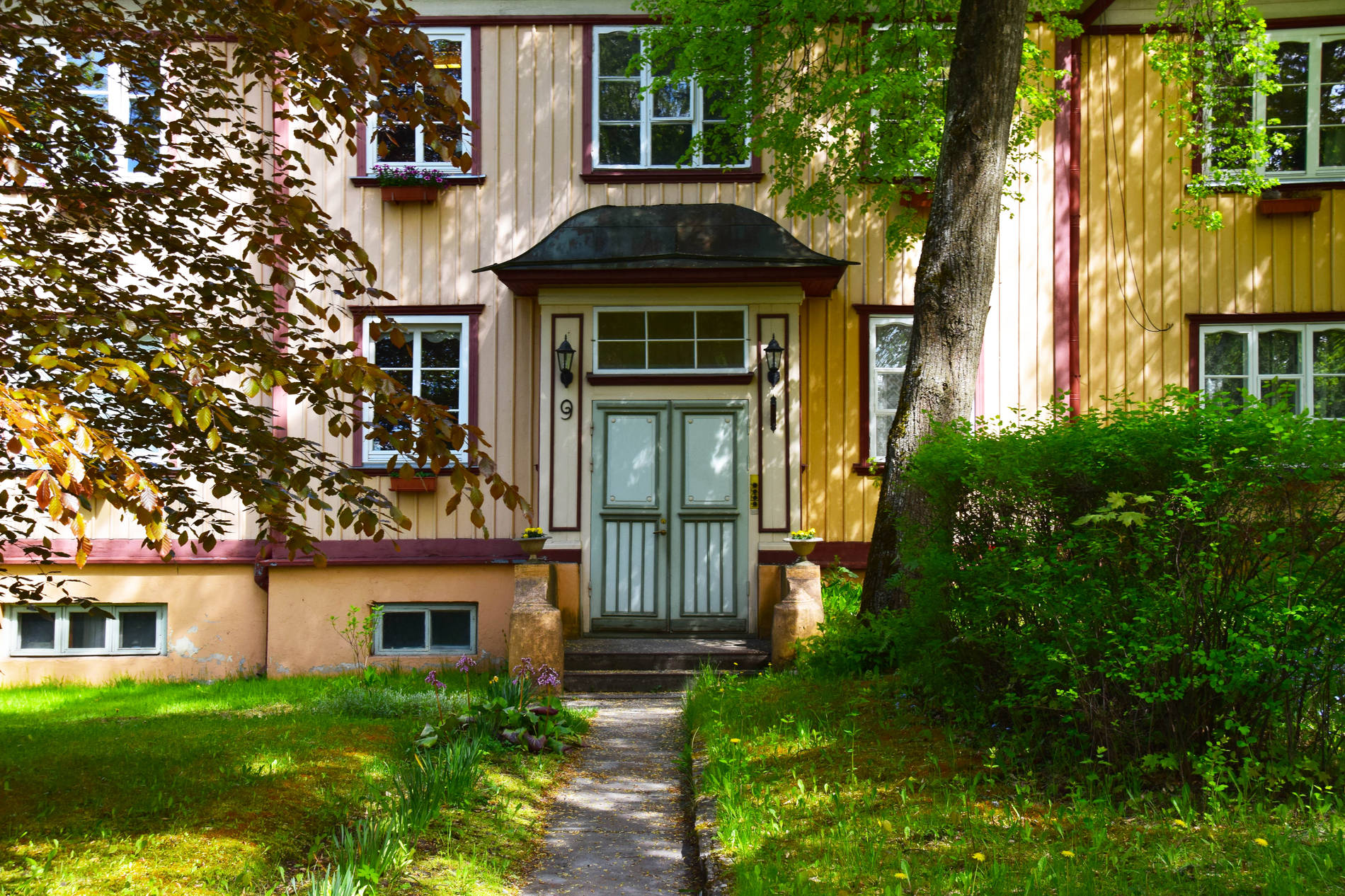 A wooden house in the Nõmme area of Tallinn, Estonia.