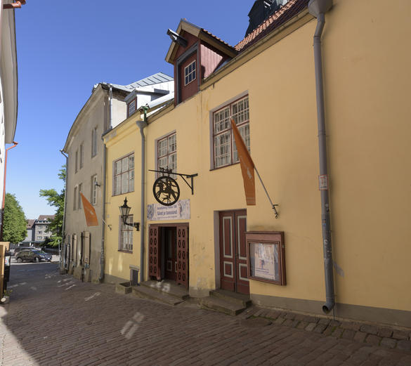 External view of the Adamson-Eric art museum in the Old Town of Tallinn, Estonia