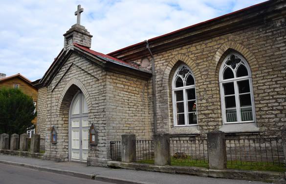 External view of Kalju Baptist Church in Tallinn, Estonia.