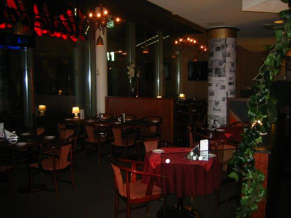 Interior of the restaurant Steakhouse Liivi located in the city center of Tallinn, Estonia.