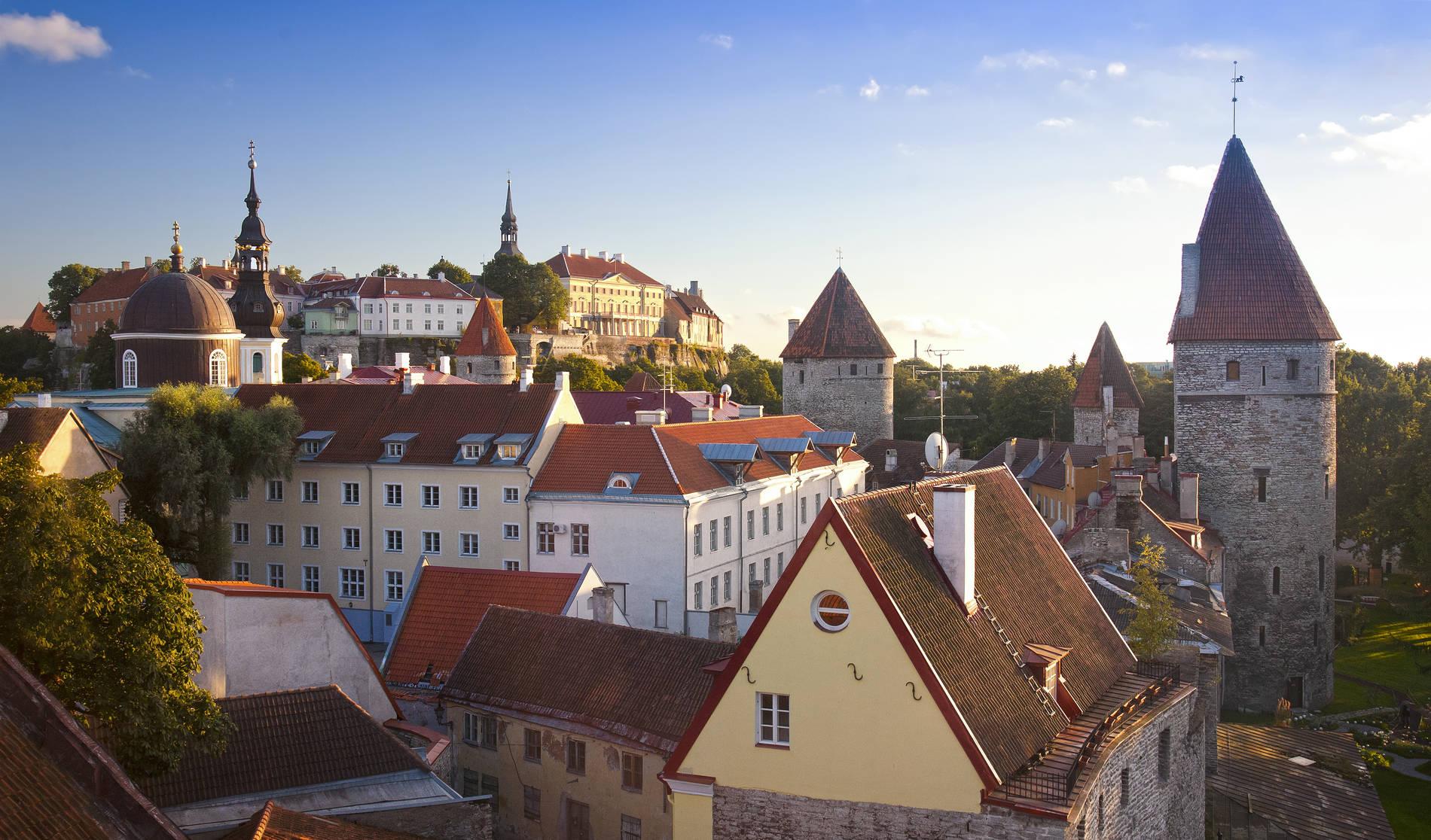 View of the Tallinn Old Town, Estonia
